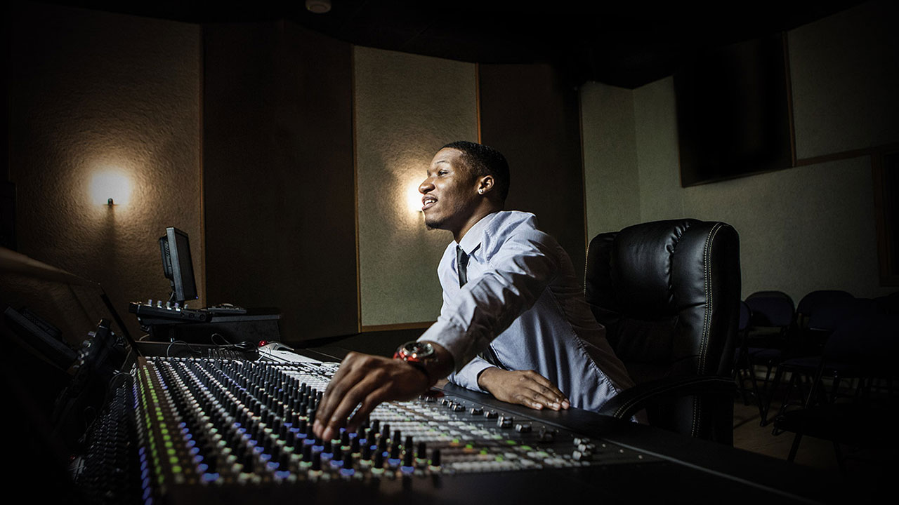 music production Hundreds of study options are available in subjects including songwriting, music production, music business, music theory, guitar, voice, arranging, harmony, ear.