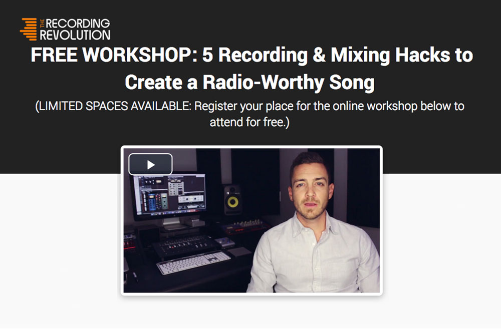 Recording Revolution Free Workshop